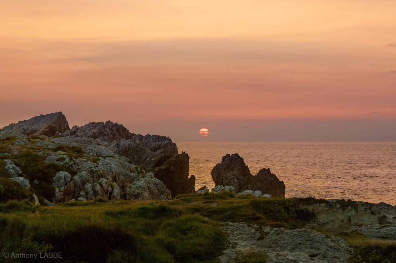 Isla de la Virgne del Mar Santander Cantabria Espagne Eté 2018 Sunset